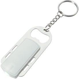 Monogrammed Bottle Opener Key Light