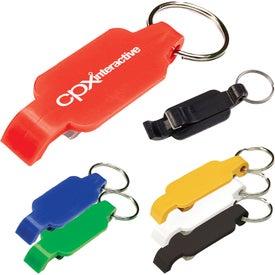 Plastic Bottle Opener Key Chain