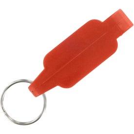 Plastic Bottle Opener Key Chain for Promotion