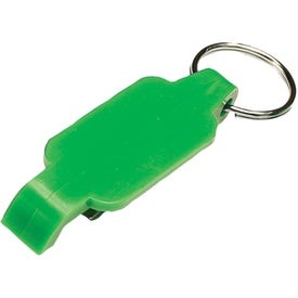 Personalized Plastic Bottle Opener Key Chain