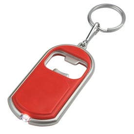 Customized Bottle Opener Key Chain With LED Light