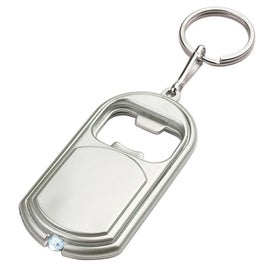 Promotional Bottle Opener Key Chain With LED Light