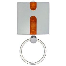 Imprinted Boxy Light Keychain