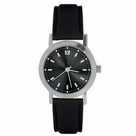 Black Round-Faced Watch