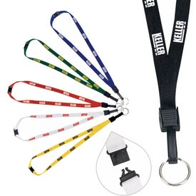 "Imprinted 1/2"" Breakaway Lanyard with Keyring"