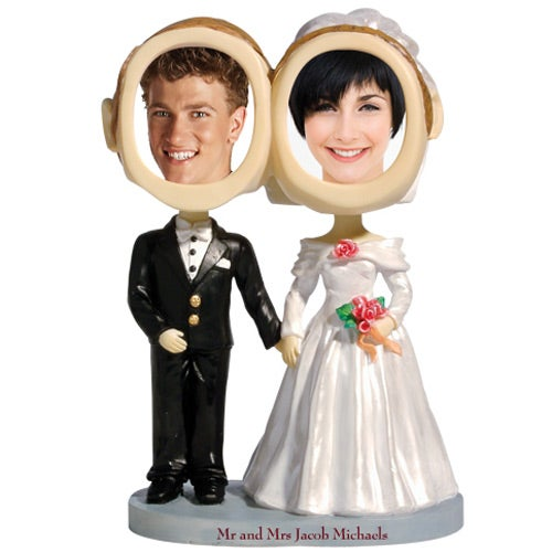 See Item Bride and Groom Couple Bobble Head