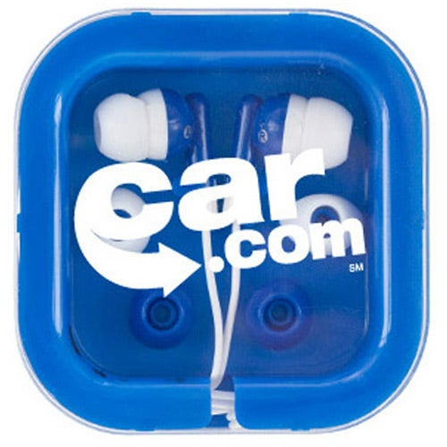 Blue Brightly Colored Ear Buds