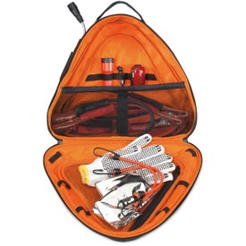 Brookstone Deluxe Roadside Safety Kit for Customization