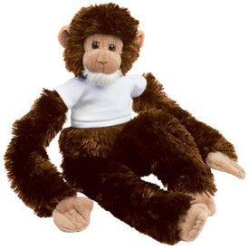 Imprinted Plush Monkey Manny