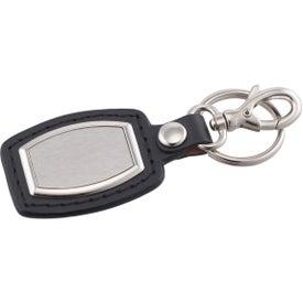 Printed Brushed Plate Key Ring
