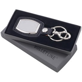 Promotional Brushed Plate Key Ring