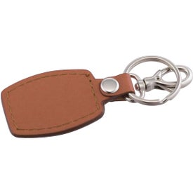 Branded Brushed Plate Key Ring