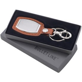 Brushed Plate Key Ring with Your Slogan