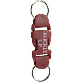 Personalized Buckle Key Tag With Buckle Up Pre Printed