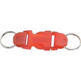 Company Buckle Key Tag With Buckle Up Pre Printed