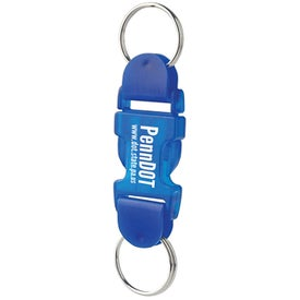 Imprinted Buckle Key Tag With Buckle Up Pre Printed