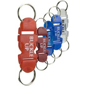 Buckle Key Tag With Buckle Up Pre Printed