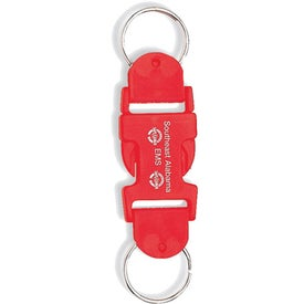 Monogrammed Buckle-Up Key Tags