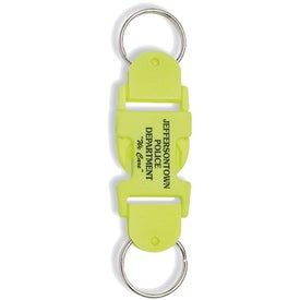 Buckle-Up Key Tags with Your Slogan