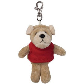 Bulldog Plush Key Chain