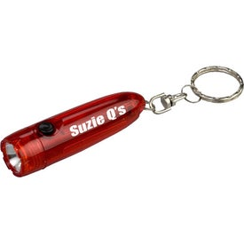 Personalized Bullet Flashlight with Key Chain