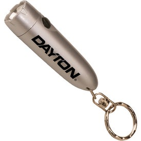 Monogrammed Bullet Flashlight with Key Chain