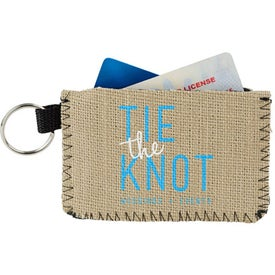 Burlap-Neoprene Card Guard Card Holder
