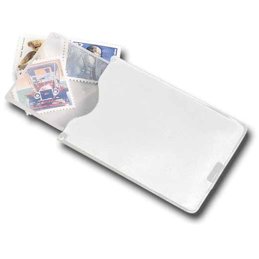 White Business Card Pocket Magnifier