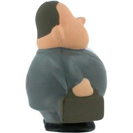 Imprinted Business Man Bert Stress Reliever