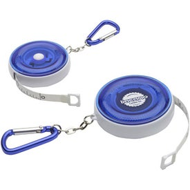 Printed Carabiner Round Tape Measure