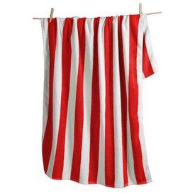 Logo Cabana Striped Beach Towel