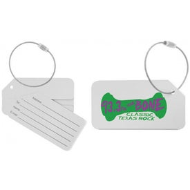 Cable Luggage Tag Imprinted with Your Logo