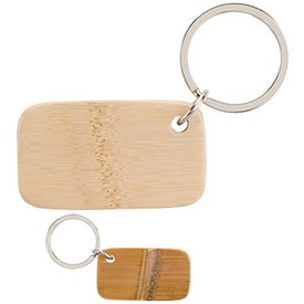 Monogrammed Cadeau Bamboo Keyring
