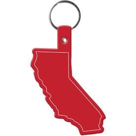 Monogrammed California Key Tag