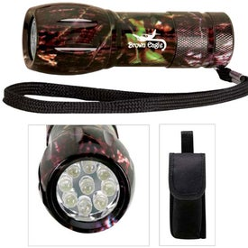 Printed Camouflage Mini Aluminum LED Flashlight