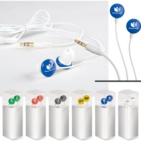 Monogrammed Candy Round Earbuds