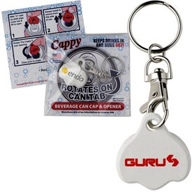 Logo Cappy Beverage Cap with Key Tag