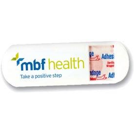 Capsule Bandage Dispenser Pill Holder with Your Logo