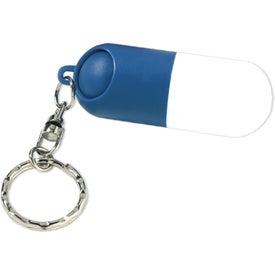Custom Capsule Pill Holder Key Ring
