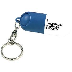 Customized Capsule Pill Holder Key Ring