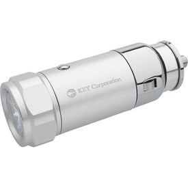 Car Charging Flashlight Imprinted with Your Logo