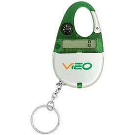 Branded Carabiner Calculator Keychain