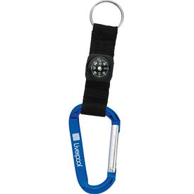 Personalized Carabiner with Compass