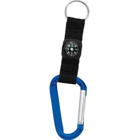 Carabiner with Compass Imprinted with Your Logo