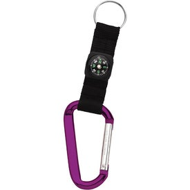 Promotional Carabiner with Compass