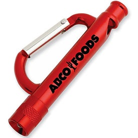 Carabiner Flashlight Whistle