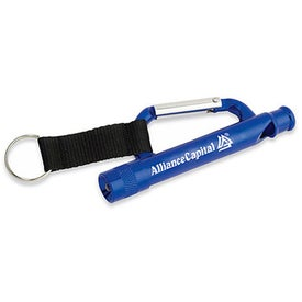 Carabiner Flashlight Whistle with Strap