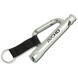 Carabiner Flashlight Whistle with Strap for your School
