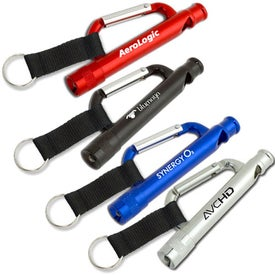 Carabiner Flashlight Whistle with Strap for Your Church