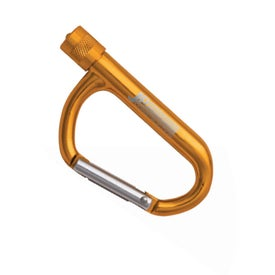 Carabiner LED Flashlight Printed with Your Logo